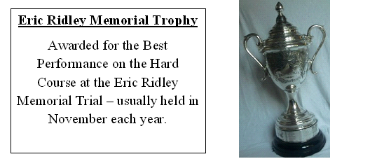 Eric Ridley information for award page of website